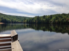 Fishing dock on the lake