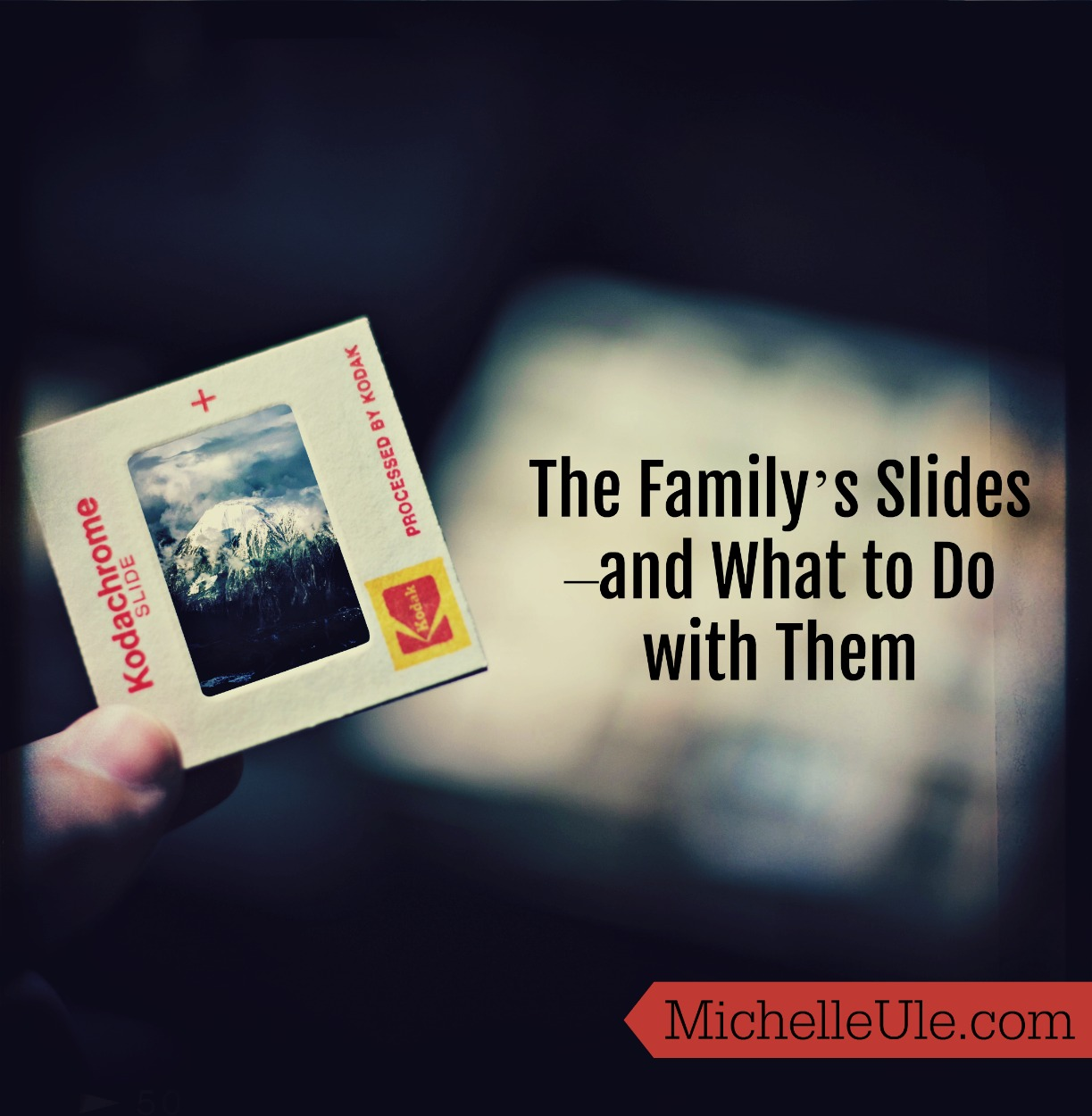 The Family's Slides--and What to Do with Them