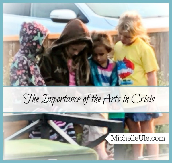 arts in crisis, the importance of arts in crisis, Santa Rosa fires, children, dancing, singing, drawing, coloring, Mad Libs