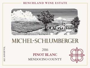 2016 Pinot Blanc Mendocino