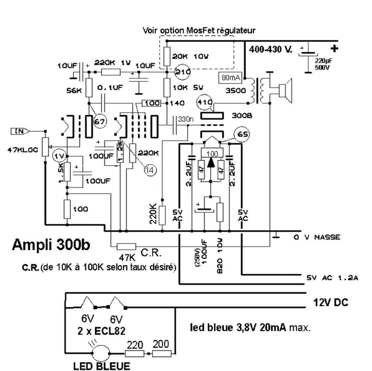 Ampli Ficateur Stereo 6bm8 E300b 2 X Se