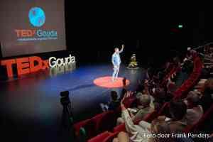 Michiel tijdens TEDx Gouda