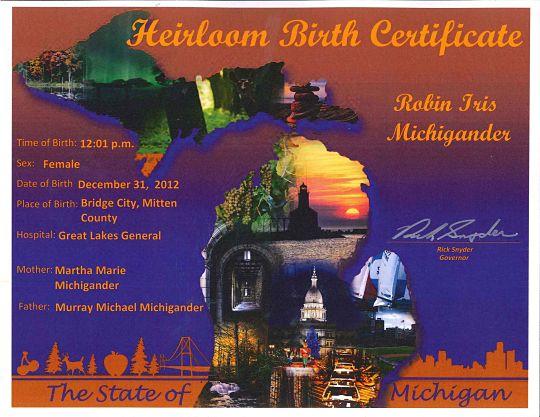 MDHHS - Heirloom Birth Certificates