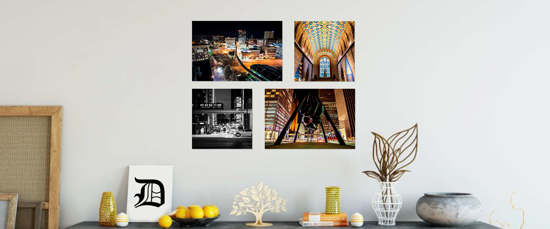 Detroit Prints, Detroit Canvases, and Detroit Metal Prints all for your Home or Office!