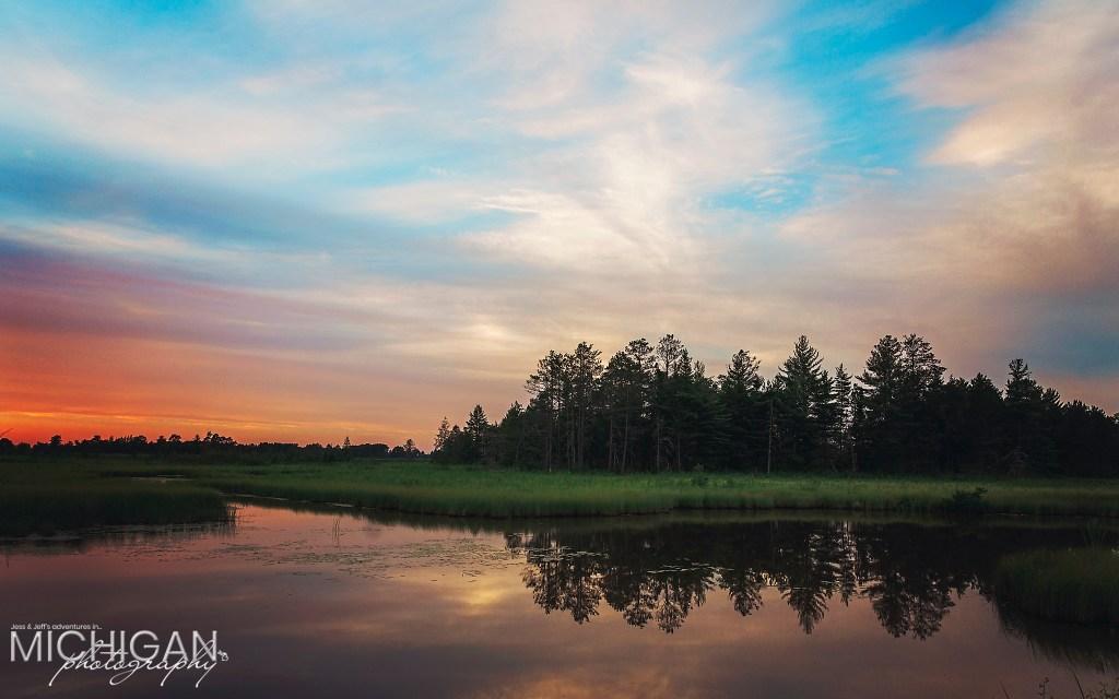 Seney National Wildlife Refuge Sunset - Reflections in Michigan's Upper Peninsula