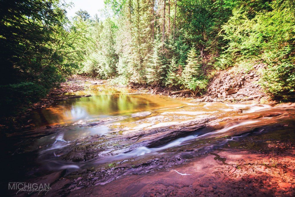 LIttle Iron River and Nonesuch Falls in the Porcupine Mountains