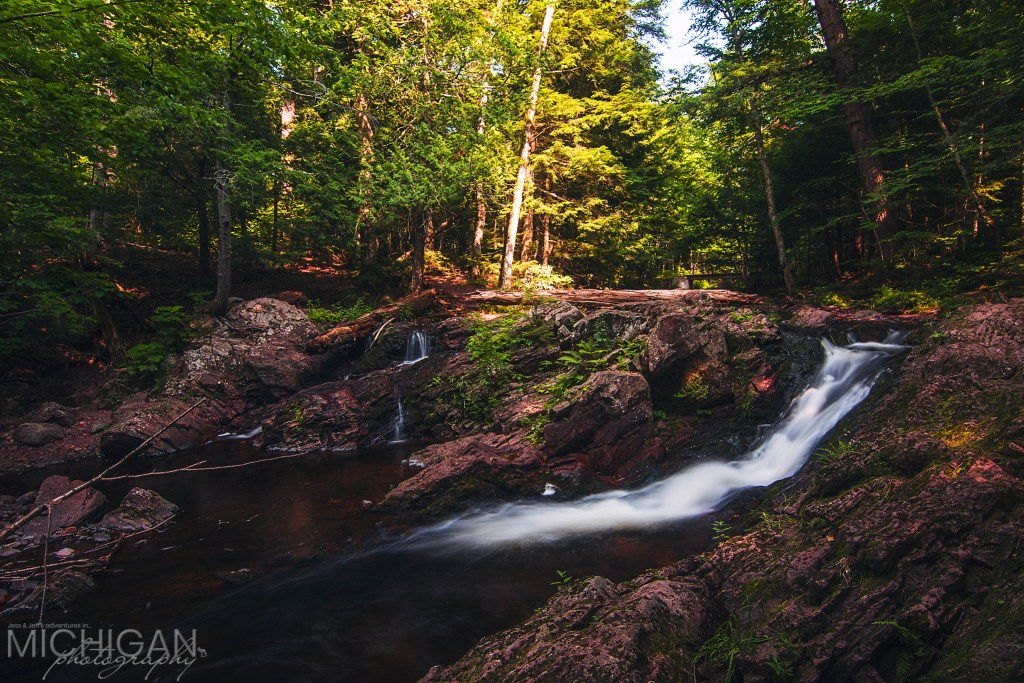 A shot of Overlooked Falls in the Porcupine Mountains State Park