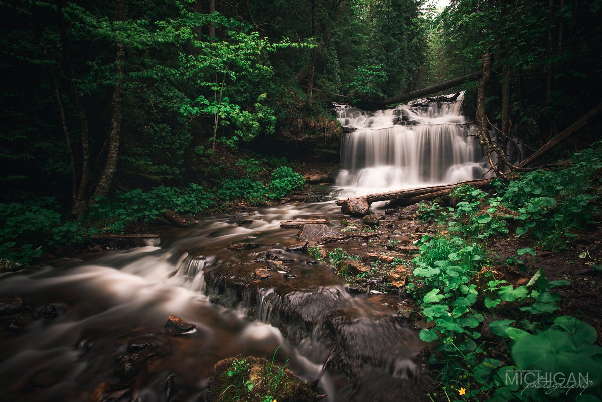 Munising's Wagner Falls in Springtime