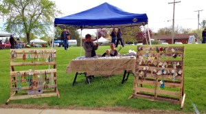 Milford Community Group members at the Huron Valley Farmer's Market raising awareness!
