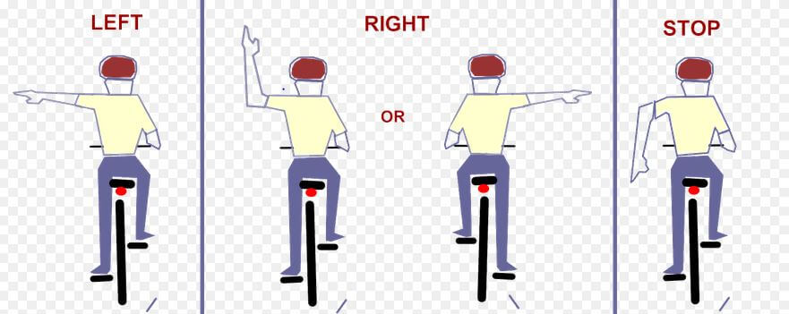 Image result for bike hand signals