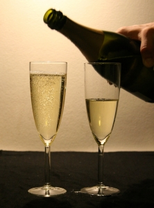 two glasses of champaign