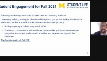 SACUA talks fall 2021 semester, government relations
