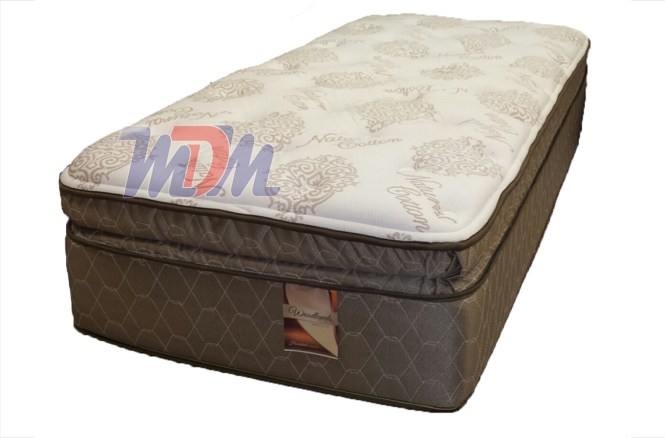 Thick Pillow Top Mattress Verticoil Low Cost Corsicana Bedding Woodlands