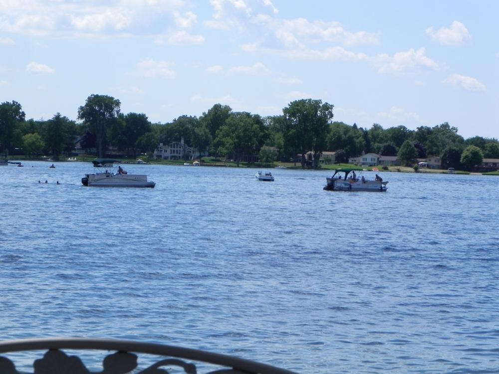 White Michigan Lake And Black