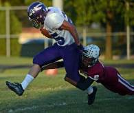 MIPrep Zone football: Wyandotte Roosevelt at Woodhaven Warriors game video