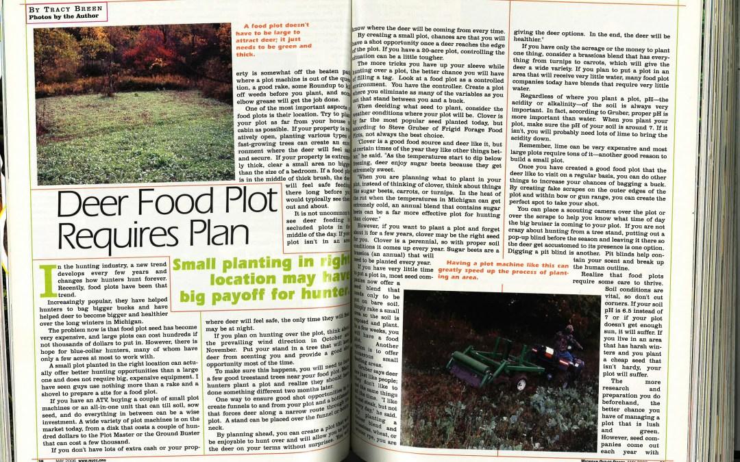 Throwback: Deer Food Plot Requires Plan