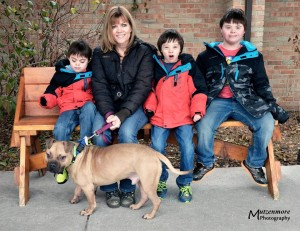 Webber with his new family.