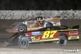 Richard Neiser (#87) racing with Ryan Unzicker Friday at Winston Speedway. (John Berglund Photo)