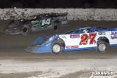 Brandon Thirby (#140 racing with Eric Spangler (#27) Friday at Winston Speedway. (John Berglund Photo)