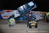 Ryan Ruhl won the Engine Pro Sprints on Dirt presented by ARP feature on Saturday April 26, 2015 at Crystal Motor Speedway. (Aaron Ridgeway / Races on the Web.com Photo)