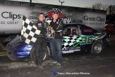 Tom Chase won the 4-Cylinder feature Saturday at Berlin Raceway. (Tom DeVette Photo)