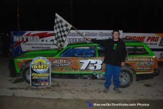 Austin Wiley won the Street Stock feature Saturday May 16, 2015 at Crystal Motor Speedway. (ROTW Photo)