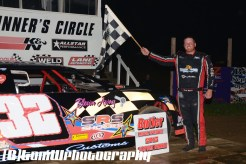 Chris Garrett won the street stock feature Saturday night May 16, 2015 at Butler Speedway. (Tom Willavize Photo)
