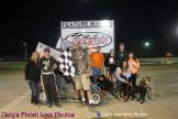 Nolan Monroe won the 600 Restricted feature Saturday May 2, 2015 at Jackson Speedway. (Cary Johnson Photo)