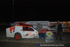 Jimmy Hale, Jr. won the IMCA Modified feature Saturday May 16, 2015 at Crystal Motor Speedway, (ROTW Photo)