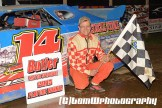 Logan Beckwith won the sportsman feature Saturday night May 2, 2015 at Butler Speedway. (Tom W Photography)