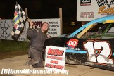 Marq Eaton won the 4-Cylinder feature Saturday June 6, 2015 at Butler Speedway. (TW Photographics)
