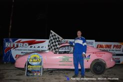 Dave Redmon won the flinn stock feature Saturday June 13, 2015 at Crystal Motor Speedway. (ROTW / Aaron Ridgeway Photo)