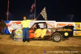 Mickey Currier won the pro truck feature Saturday June 13, 2015 at Crystal Motor Speedway. (ROTW / Aaron Ridgeway Photo)