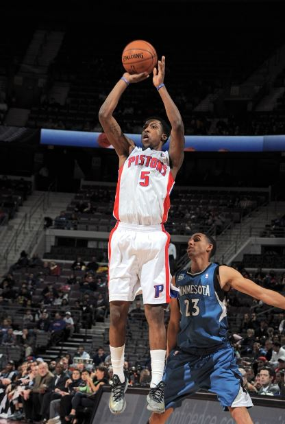 Kentavious Caldwell-Pope scored 16 points in Detroit's 121-94 loss to the Minnesota Timberwolves on Tuesday (Photo Courtesy of the Detroit Pistons)