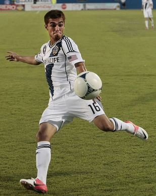 Hector Jimenez, pictured with the L.A. Galaxy, was traded to the Crew on Tuesday (Getty Images)