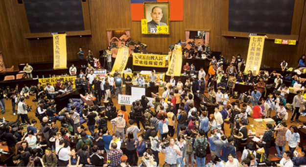 Occupation of Parliament in Sunflower Movement