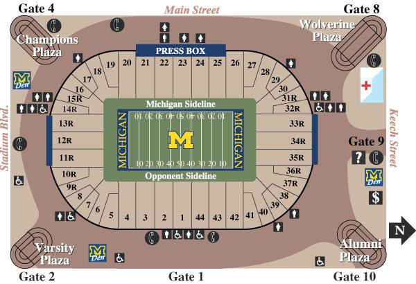 The Big House Michigan Stadium Seating Chart