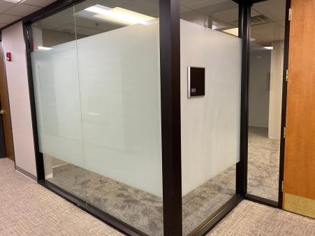 Custom Office Privacy Frost Film