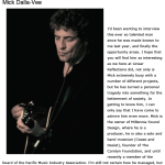 http://mickdallavee.com/wp-content/uploads/2013/06/Past-Linear-Reflections-Interview-with-Mick-Dalla-Vee.pdf