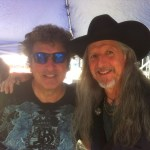 Patrick Simmons and Mick Dalla-Vee pose at the Vermont State Fair after playing a double bill.