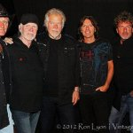 Bachman and Turner Band. Left to Right - Brent Howard Knudsen, C.F. Fred Turner, Randy Bachman, Marc LaFrance, Mick Dalla-Vee