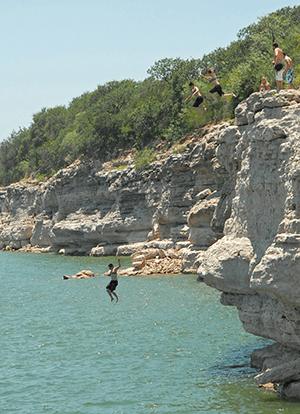 Cliff-Jumping-in-Lago-Vista-Texas