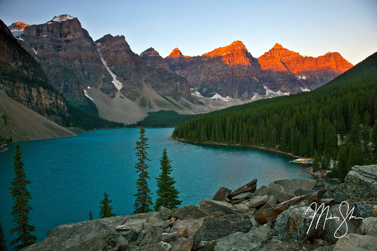Moraine Lake Sunrise  Moraine Lake Valley of the Ten