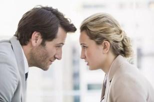 divorced couple arguing