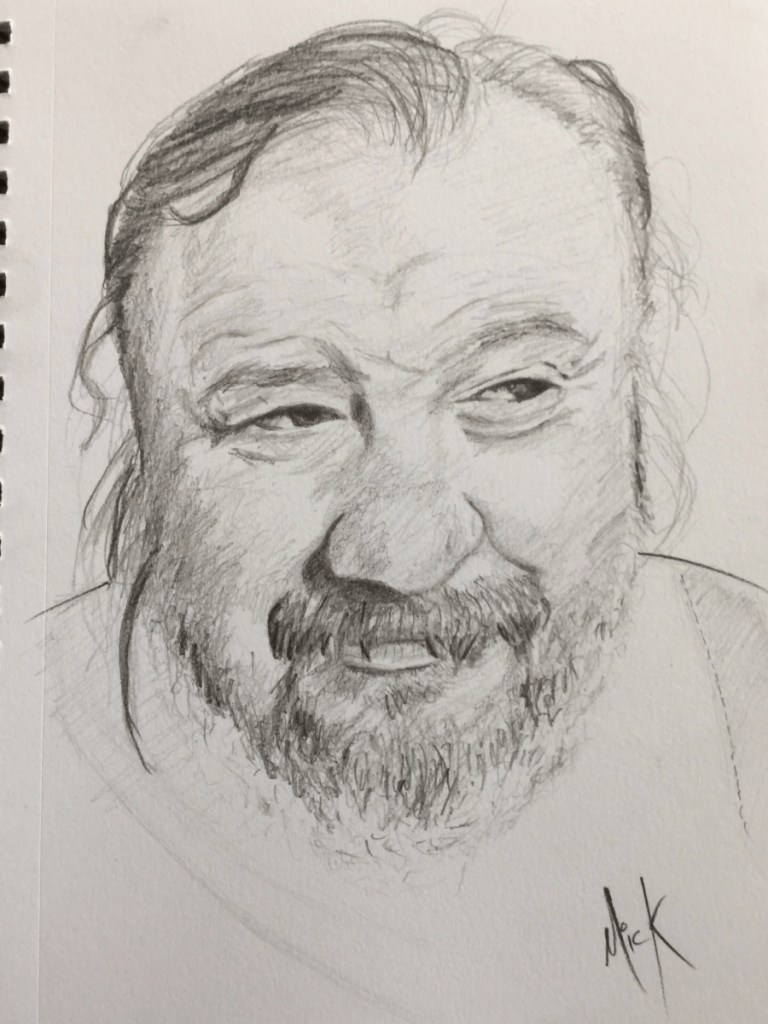 A Pencil sketch of Freddie Wilson