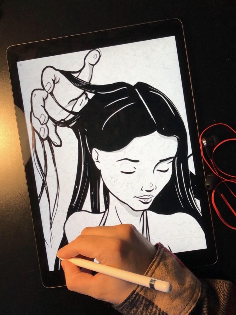 Hand in Hair artwork