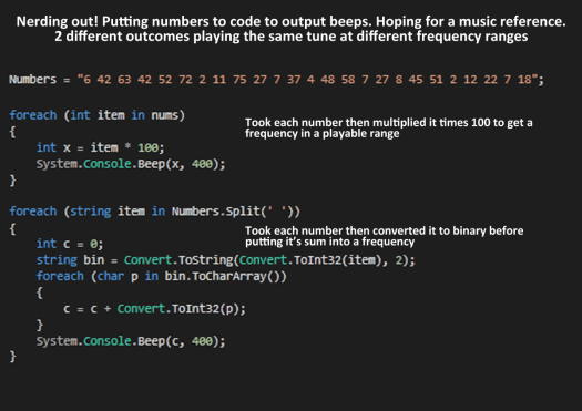 Numbers to Music-Ish With Code