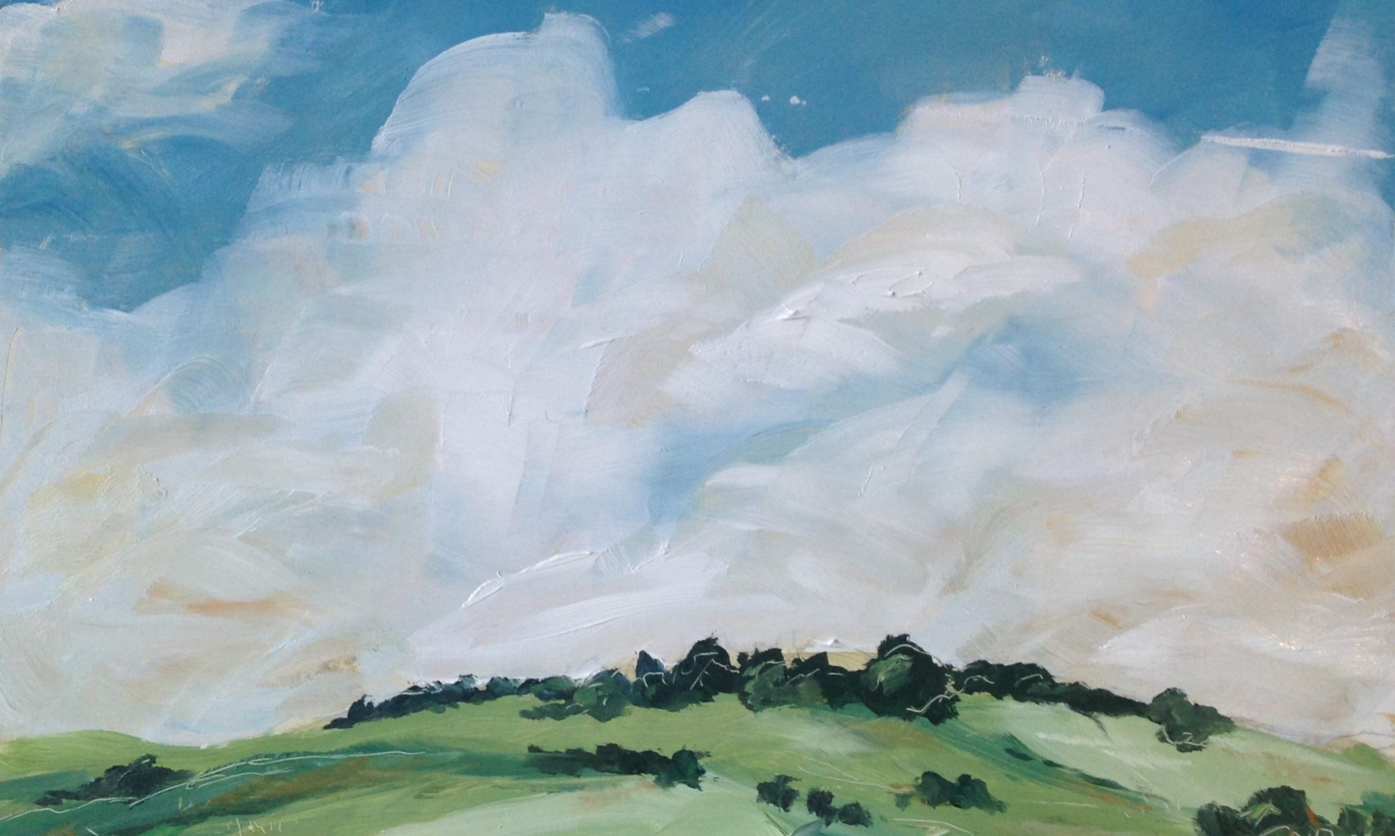 Landscape in oil paint by artist Michael Statham