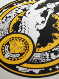 Medusa a screenprint by artist Michael Statham