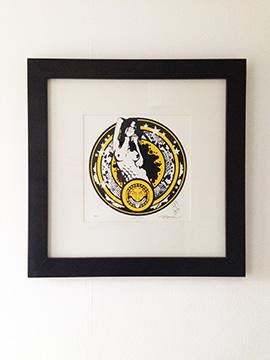 Medusa a screenprint by artist Michael Statham